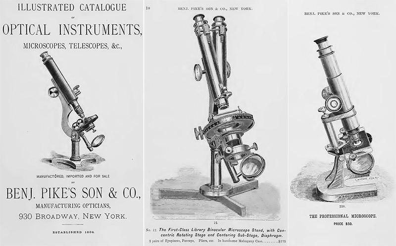 Benj Pike/'s Son 1880 CATALOG Optical Instruments Microsocpes Telescopes Medical